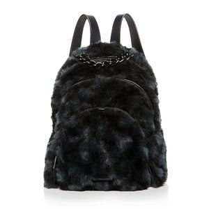KENDALL & KYLIE Sloane Checkered Faux-Fur Backpack